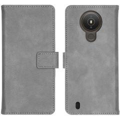 iMoshion Luxe Booktype Nokia 1.4 - Grijs