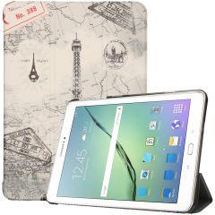 iMoshion Design Trifold Bookcase Samsung Galaxy Tab S2 9.7 - Parijs