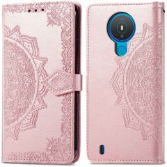 iMoshion Mandala Booktype Nokia 1.4  - Rosé Goud