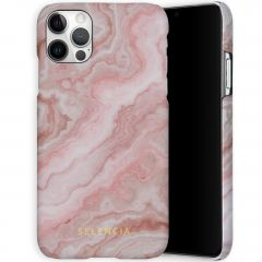 Selencia Maya Fashion Backcover iPhone 12 (Pro) - Marble Rose