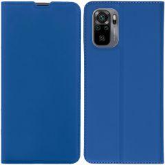iMoshion Slim Folio Book Case  Xiaomi Redmi Note 10 (4G) - Blauw