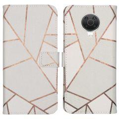 iMoshion Design Softcase Book Case Nokia G10 / G20 - White Graphic