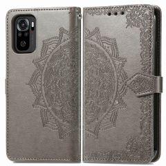 iMoshion Mandala Booktype Xiaomi Redmi Note 10 (4G) - Grijs