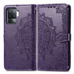 iMoshion Mandala Booktype Oppo A94 (5G) - Paars