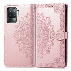 iMoshion Mandala Booktype Oppo A94 (5G) - Rosé Goud
