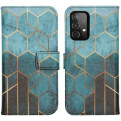 iMoshion Design Softcase Book Case Galaxy A72 - Green Honeycomb