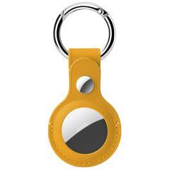 Accezz Genuine Leather Keychain Case Apple AirTag - Geel