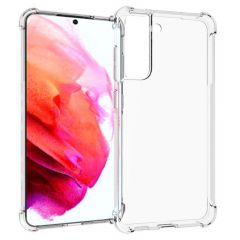 iMoshion Shockproof Case Samsung Galaxy S21 FE - Transparant