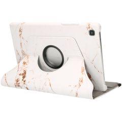 iMoshion 360° Draaibare Design Bookcase Galaxy Tab A7 - White Marble