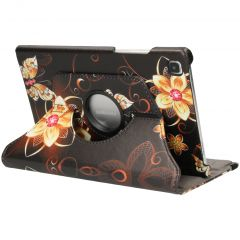 iMoshion 360° Draaibare Design Bookcase Galaxy Tab A7 - Butterfly Flower