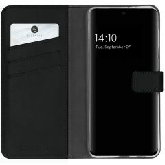 Selencia Echt Lederen Booktype Samsung Galaxy A32 (4G) - Zwart