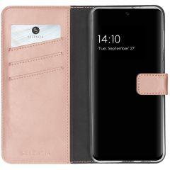 Selencia Echt Lederen Booktype Samsung Galaxy A32 (4G) - Roze
