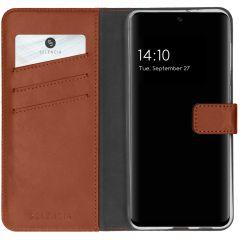 Selencia Echt Lederen Booktype Samsung Galaxy A32 (4G) - Lichtbruin