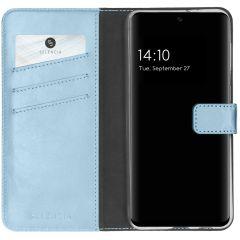 Selencia Echt Lederen Booktype Samsung Galaxy A32 (4G) - Lichtblauw