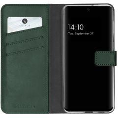 Selencia Echt Lederen Booktype Samsung Galaxy A32 (4G) - Groen