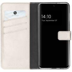 Selencia Echt Lederen Booktype Samsung Galaxy A32 (4G) - Grijs