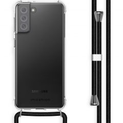 iMoshion Backcover met koord Samsung Galaxy S21 FE - Zwart