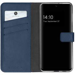 Selencia Echt Lederen Booktype Samsung Galaxy A32 (4G) - Donkerblauw