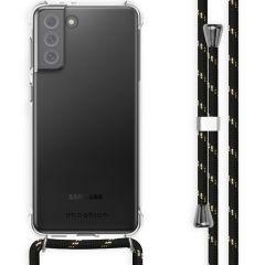 iMoshion Backcover met koord Samsung Galaxy S21 FE - Zwart / Goud