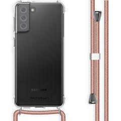 iMoshion Backcover met koord Samsung Galaxy S21 FE - Rosé Goud