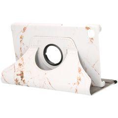 iMoshion 360° Draaibare Design Bookcase Galaxy Tab A7 Lite - White Marble