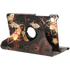 iMoshion 360° Draaibare Design Bookcase Galaxy Tab A7 Lite - Butterfly Flower