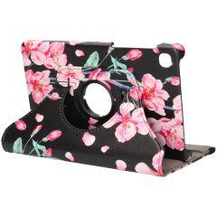 iMoshion 360° Draaibare Design Bookcase Galaxy Tab A7 Lite - Blossom Watercolor Black