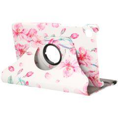 iMoshion 360° Draaibare Design Bookcase Galaxy Tab A7 Lite - Blossom Watercolor White