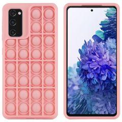 iMoshion Pop It Fidget Toy - Pop It hoesje Galaxy S20 FE - Roze