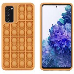 iMoshion Pop It Fidget Toy - Pop It hoesje Galaxy S20 FE - Goud