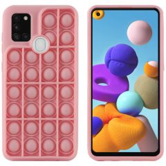 iMoshion Pop It Fidget Toy - Pop It hoesje Galaxy A21s  - Roze