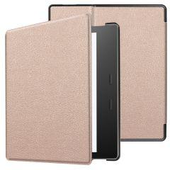 iMoshion Slim Hard Case Booktype Amazon Kindle Oasis 3 - Rosé Goud