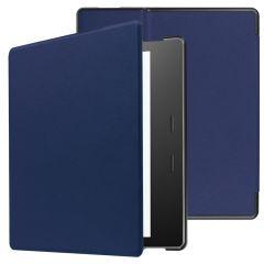 iMoshion Slim Hard Case Booktype Amazon Kindle Oasis 3 - Donkerblauw