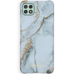 Selencia Maya Fashion Backcover Samsung Galaxy A22 (5G) -Marble Stone