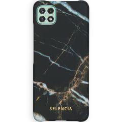 Selencia Maya Fashion Backcover Samsung Galaxy A22 (5G) -Marble Black