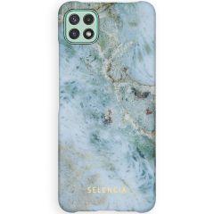 Selencia Maya Fashion Backcover Samsung Galaxy A22 (5G) - Marble Blue