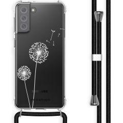 iMoshion Design hoesje met koord Galaxy S21 FE - Paardenbloem - Wit