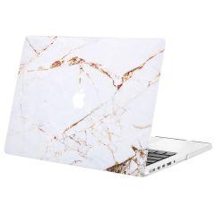 iMoshion Design Laptop Cover MacBook Pro 13 inch Retina -White Marble