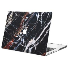 iMoshion Design Laptop Cover MacBook Pro 13 inch Retina -Black Marble