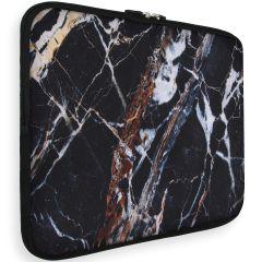 iMoshion Universele Design Sleeve 15 inch - Black Marble