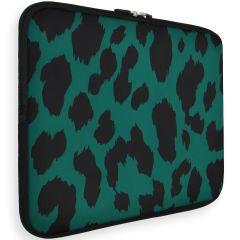iMoshion Universele Design Sleeve 15 inch - Green Leopard