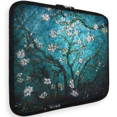 iMoshion Universele Design Sleeve 15 inch - Tree White Flowers