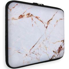 iMoshion Universele Design Sleeve 15 inch - White Marble