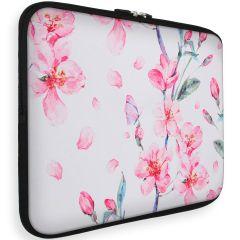 iMoshion Universele Design Sleeve 15 inch - Blossom Watercolor White
