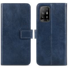 iMoshion Luxe Booktype Oppo A94 (5G) - Donkerblauw