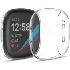 iMoshion Softcase + Screenprotector Fitbit Versa 3 - Transparant