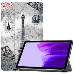 iMoshion Design Trifold Bookcase Galaxy Tab A7 Lite - Parijs