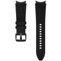 Samsung Hybrid Leather Band M/L Galaxy Watch / Watch 3 / Watch 4 / Active 2 / Classic 4 : 40-41-42-44mm - Zwart