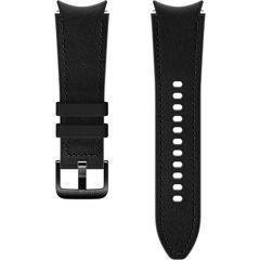 Samsung Hybrid Leather Band S/M Galaxy Watch / Watch 3 / Watch 4 / Active 2 / Classic 4 : 40-41-42-44mm - Zwart