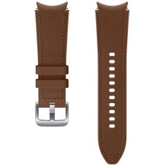 Samsung Hybrid Leather Band S/M Galaxy Watch / Watch 3 / Watch 4 / Active 2 / Classic 4 : 40-41-42-44mm - Bruin